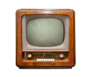 old fashioned analogue tv
